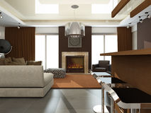 Interior of modern living-room Stock Image