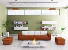 Interior of modern living room Royalty Free Stock Photos