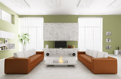 Interior of modern living room Royalty Free Stock Images