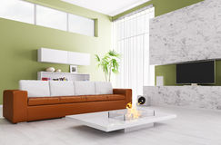 Interior of modern living room Stock Photography