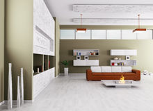 Interior of modern living room Stock Image