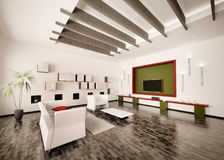 Interior of modern living room 3d render Royalty Free Stock Photography
