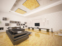 Interior of modern living room 3d render Stock Photo