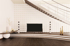 Interior of modern living room 3d render Royalty Free Stock Photo