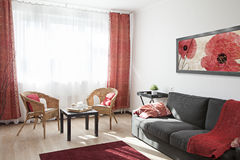 Interior of a modern living room Stock Image