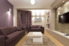 Interior of a modern living room royalty free stock photo
