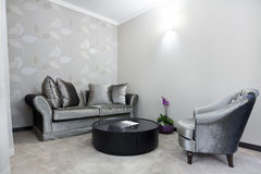 Interior of a modern living room Royalty Free Stock Image