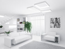 Interior of modern living room Stock Images