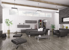 Interior of modern living room Royalty Free Stock Photos