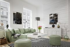 Interior of modern living room royalty free stock photography