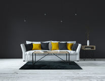 Interior, modern living room Royalty Free Stock Photo