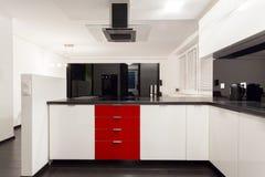 Interior of modern, luxury kitchen stock photo