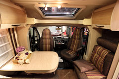 Interior of a modern motorhome Royalty Free Stock Photos
