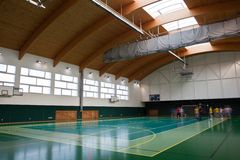 Interior of a modern multifunctional gymnasium Royalty Free Stock Images