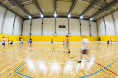 Interior of a modern multifunctional gymnasium Stock Images
