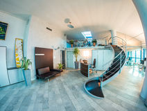 interior modern office Γυαλιά και έπιπλα Στοκ φωτογραφίες με δικαίωμα ελεύθερης χρήσης