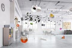 interior modern office Μικτά μέσα Στοκ Εικόνες
