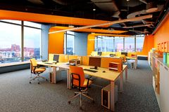 interior modern office Στοκ Εικόνες