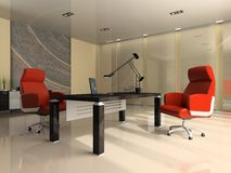 Interior of the modern office Stock Photography