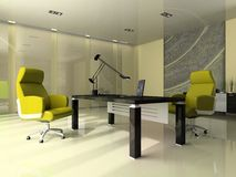 Interior of the modern office vector illustration