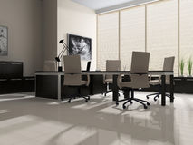 Interior of modern office vector illustration