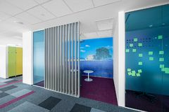 Interior of a modern office stock photography