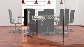 Interior of a modern office meeting room Royalty Free Stock Image