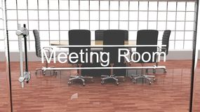 Interior of a modern office meeting room Royalty Free Stock Images