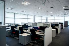 Interior of a modern office. Office interior - modern empty open space office stock photo