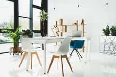 interior of modern office stock images