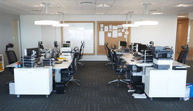 Interior Of Modern Open Plan Office With No People Royalty Free Stock Photos
