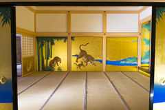 Interior in the modern part of the Nagoya castle Royalty Free Stock Photography