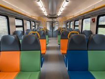 Interior of a modern train Royalty Free Stock Photos