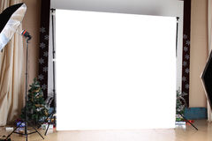 Interior of a modern photo studio Stock Photos