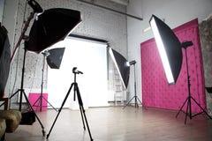 Interior of a modern photo studio Stock Photos