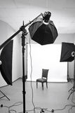 Interior of a modern photo studio Royalty Free Stock Images