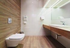 Interior of modern public restroom. Stock Photography