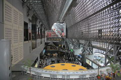 The interior of the modern railway station in Kyoto Stock Images