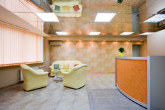 Interior of modern reception room Royalty Free Stock Photography