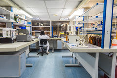 Interior of modern research laboratory Royalty Free Stock Image