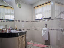 Interior of modern restroom. Interior of modern style restroom Royalty Free Stock Images