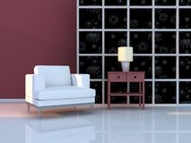 Interior of the modern room Royalty Free Stock Photo