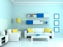 Interior of the modern room Stock Photography