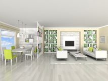 Interior of the modern room, living room Royalty Free Stock Images