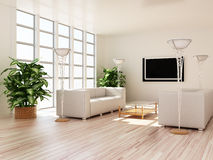 Interior modern rooms Royalty Free Stock Images