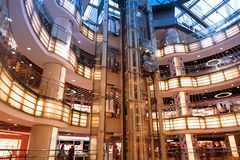 Interior of modern shopping center Stock Photo