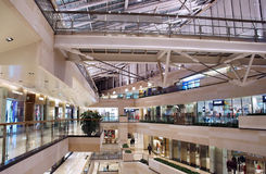 Interior of modern shopping center Royalty Free Stock Photos