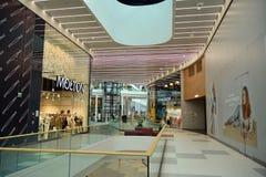 Interior of modern shopping center Galeria Mlociny. Warsaw, Poland. 18 June 2019. Interior of modern shopping center Galeria Mlociny stock images