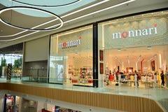 Interior of modern shopping center Galeria Mlociny. Warsaw, Poland. 18 June 2019. Interior of modern shopping center Galeria Mlociny royalty free stock photo
