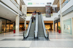 Interior of a modern shopping center Royalty Free Stock Photography
